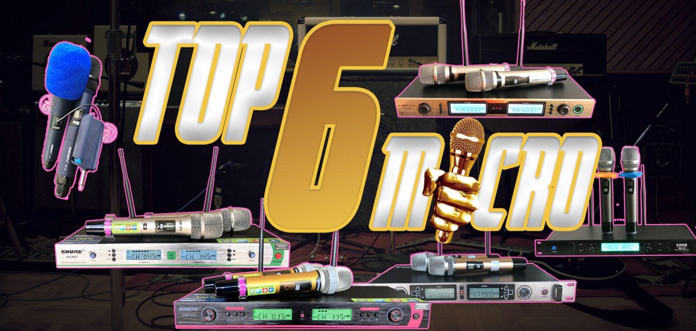 Top 06 mẫu micro không dây, mic karaoke không dây đáng mua nhất